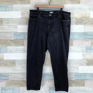 Eileen Fisher Tapered Ankle Jeans Faded Black
